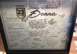 Happy retirement Donna